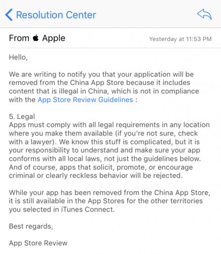 expressvpn china notice