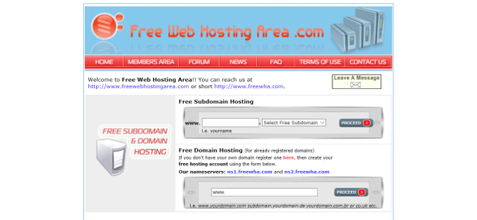 Top 7 Easy and Free Web Hosting Services free web host area