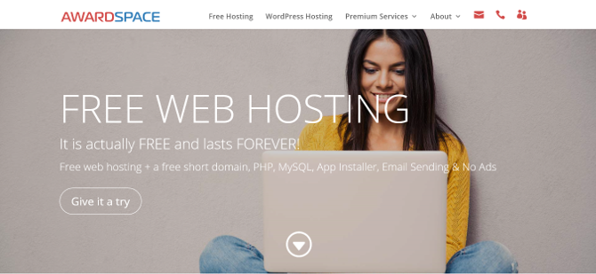 Top 7 Easy and Free Web Hosting Services free web host awardspace