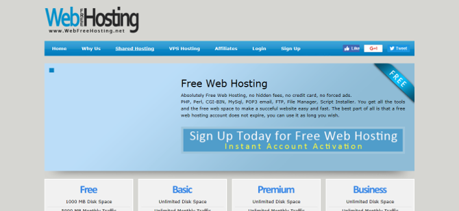 Top 7 Easy and Free Web Hosting Services free web host webfreehosting