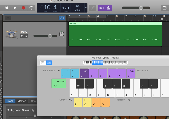 how to create drums in garageband