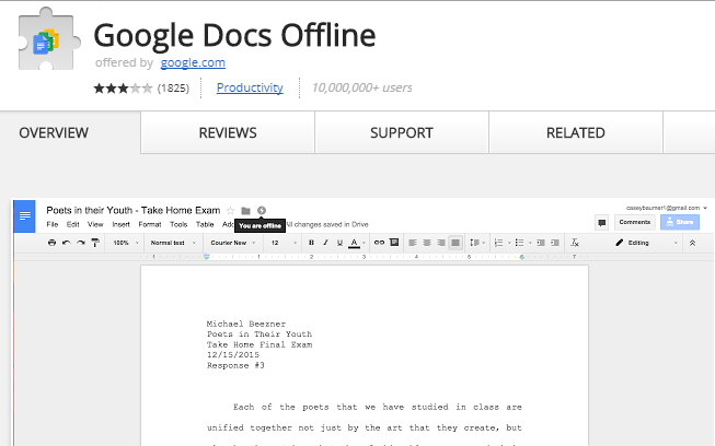 How to Access Google Drive Files Offline google docs offline extension
