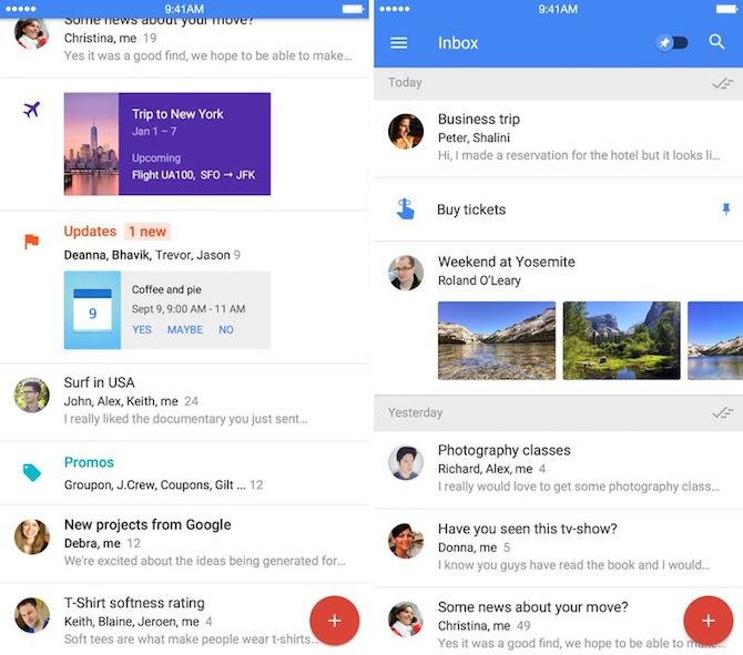 google inbox intelligent email apps iphone 1