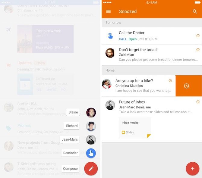 google inbox intelligent email apps iphone 2