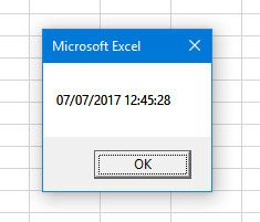 excel message box