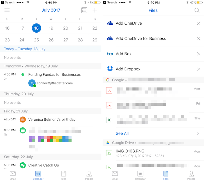 microsoft outlook intelligent email apps iphone 2