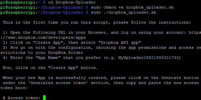 raspberry pi apps dropbox