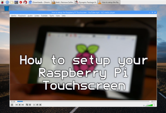 raspberry pi apps vlc player