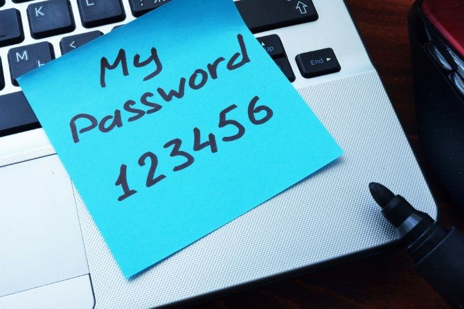 my weak password laptop 123456