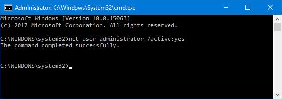 net user adminstrator
