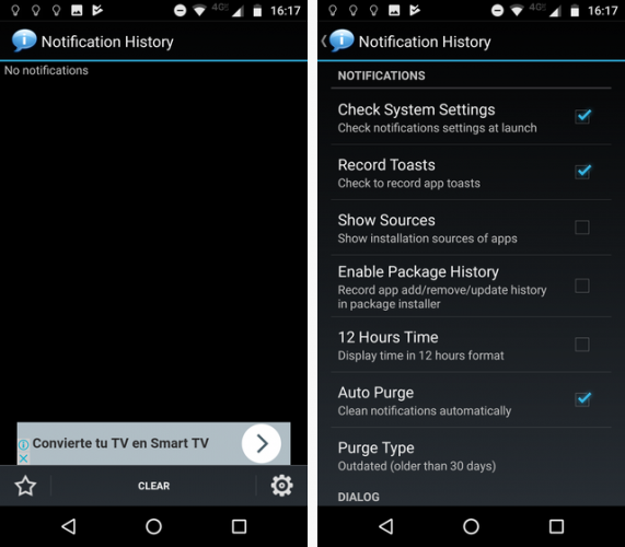 notification history android
