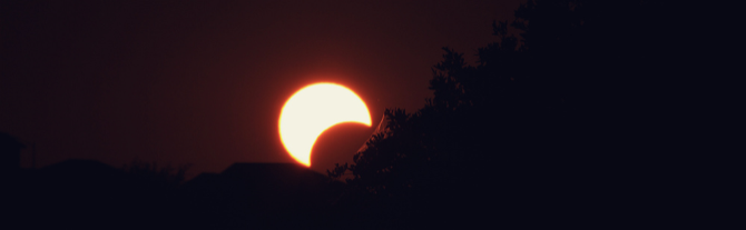 partial solar eclipse photography