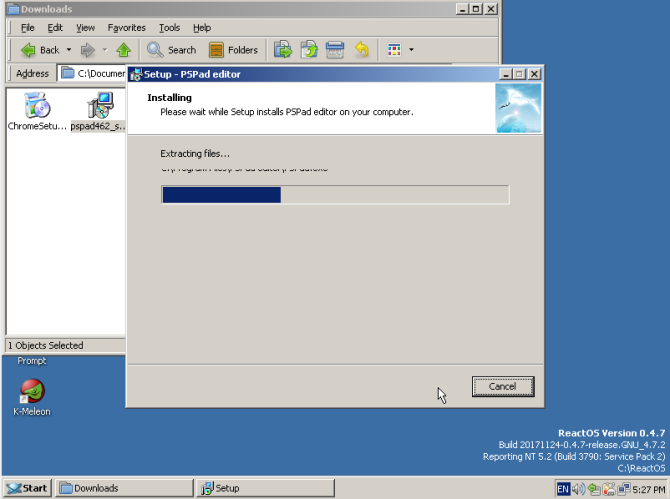 reactos review pspad install