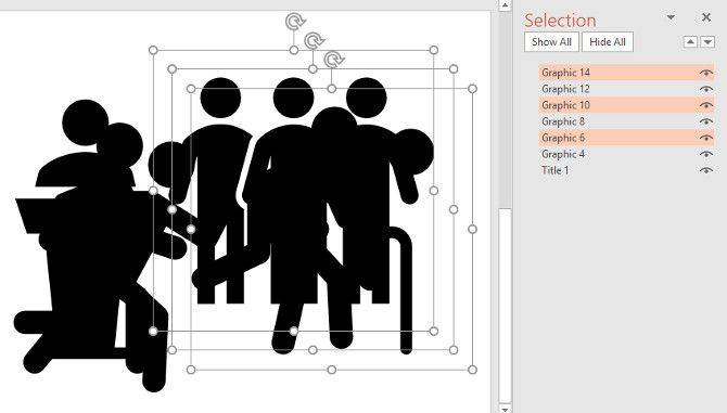 powerpoint selection pane in action