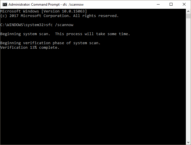 sfc scannow command prompt