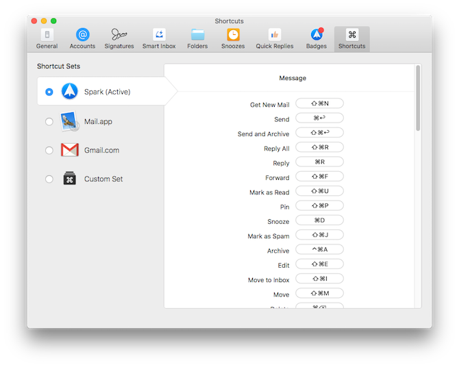 spark email app for Mac settings