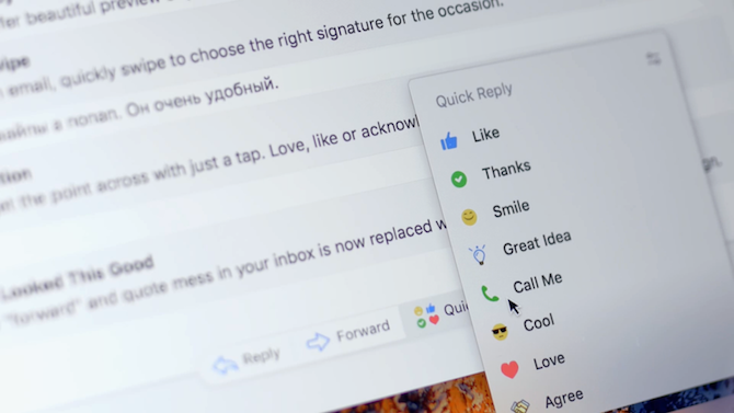 spark email app mac quick replies