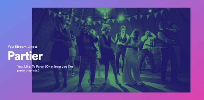 Spotify thinks I stream like a partier