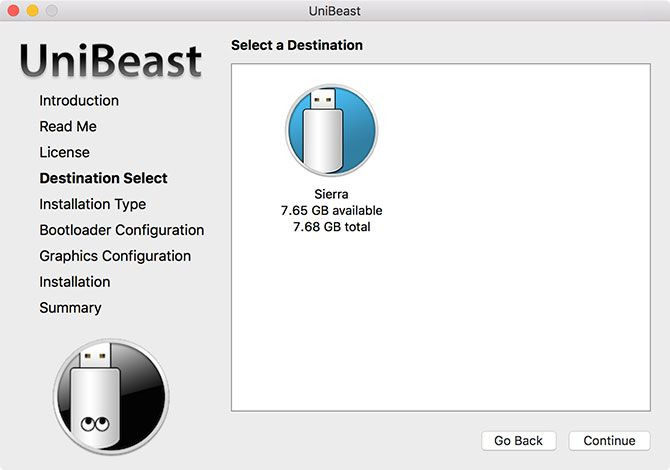 How to Install macOS on a PC (Mac Required) unibeast destination