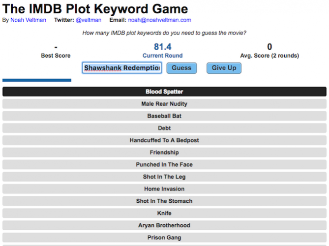 imdb plot keyword game