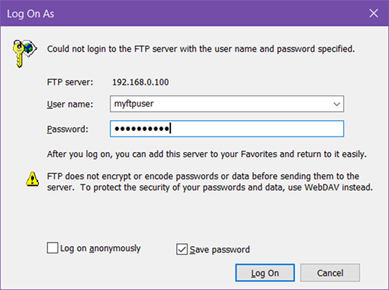 How to Turn Windows File Explorer Into an FTP Client windows 10 ftp connect prompt