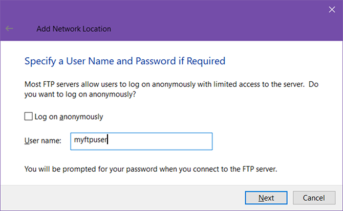 How to Turn Windows File Explorer Into an FTP Client windows 10 ftp username
