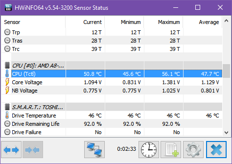 These Laptop Computer Temperature Monitor Apps Could Save Your Hard Drive windows 10 monitor hwinfo