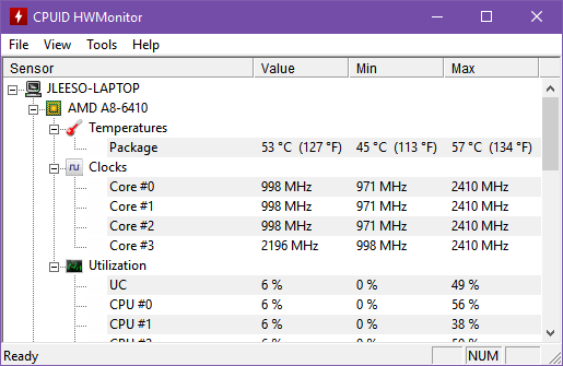 These Laptop Computer Temperature Monitor Apps Could Save Your Hard Drive windows 10 monitor hwmonitor