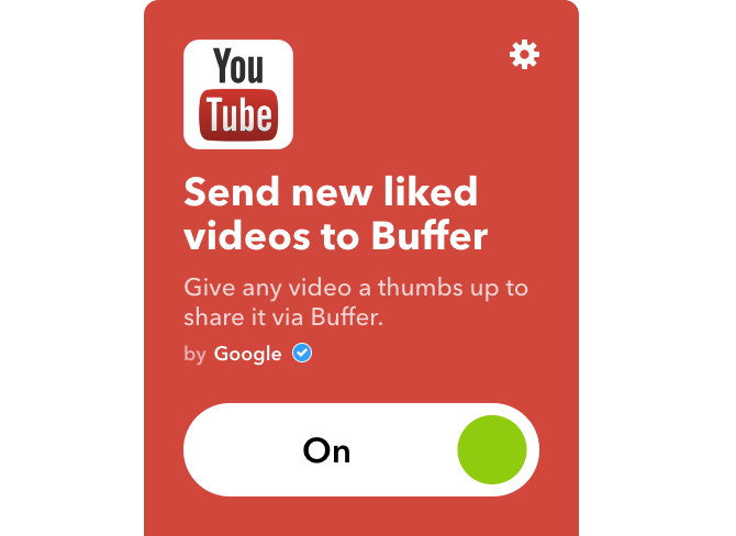 youtube ifttt liked videos to buffer