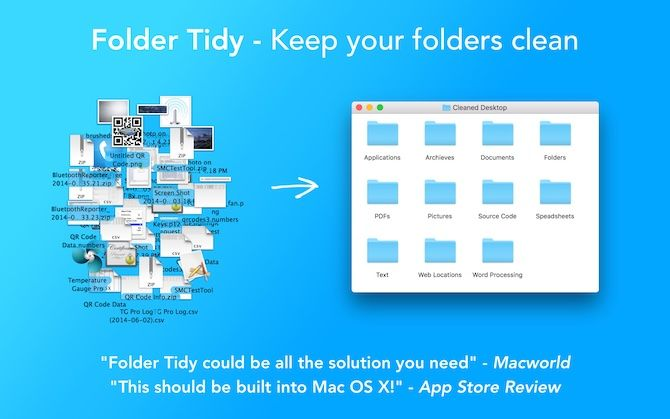 mac desktop clutter folder tidy