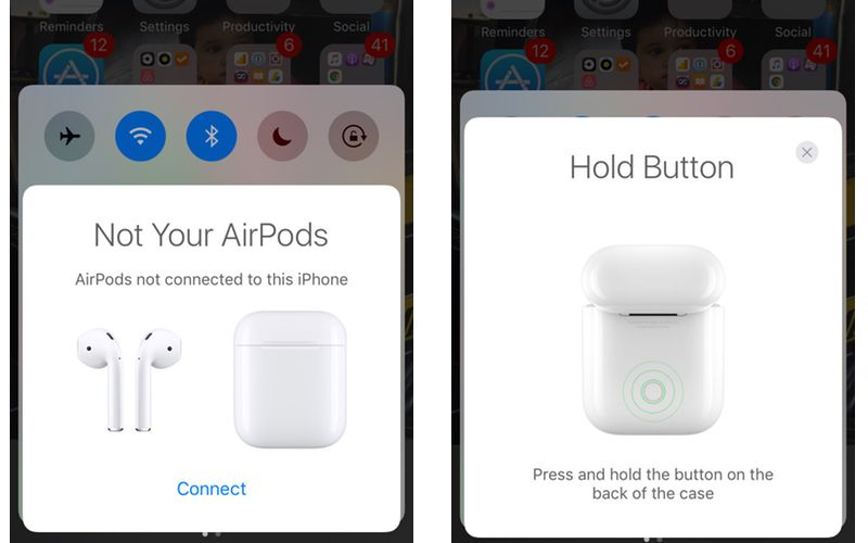 airpods pairing iphone