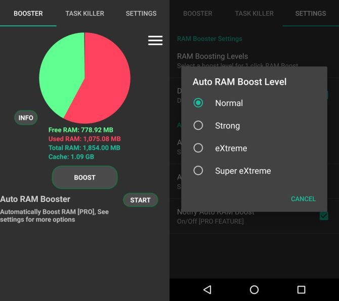 auto ram booster android app