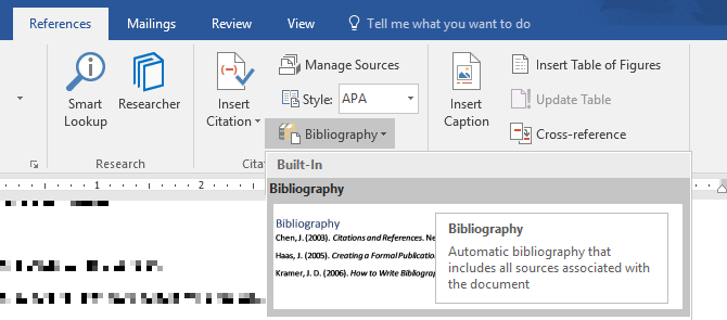 how to create professional reports and documents in microsoft word bibliography