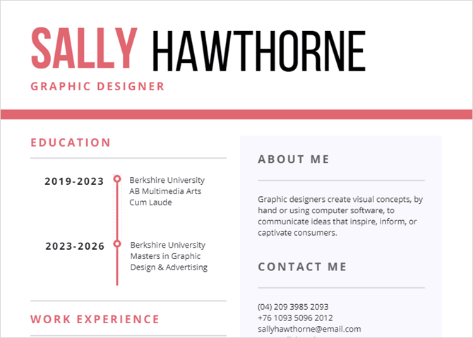 12 easy  attractive  and free infographic resume templates