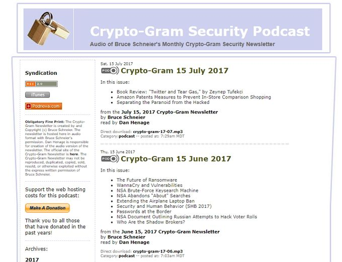 crypto-gram podcast