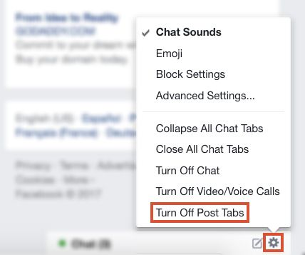 How to Disable Facebook's Popup Comments Tab Disable FB Post Tabs