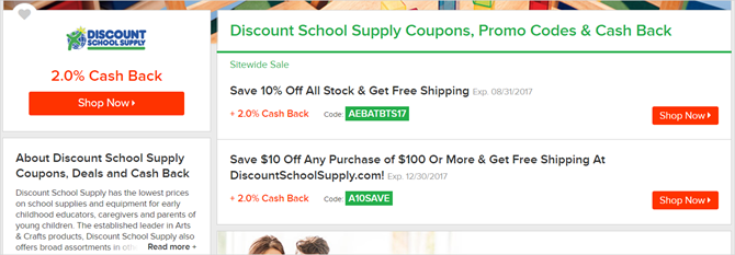 ebates school supplies