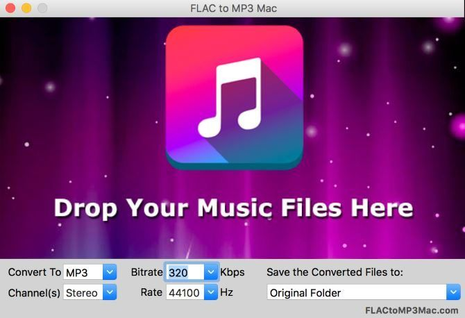 Solve Your Audio Conversion Needs with FLAC to MP3 Mac FLAC to MP3 Mac Main Screen 670x458