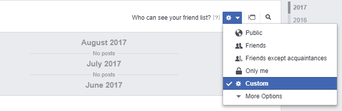 Facebook Who can see your friend list?