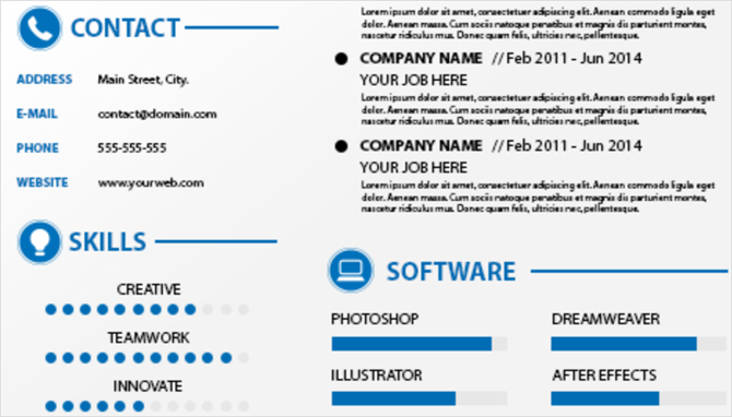 freepik editable curriculum vitae resume template