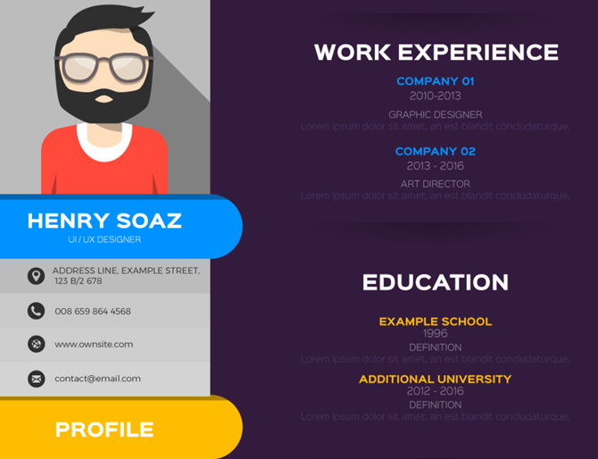 freepik flat resume template
