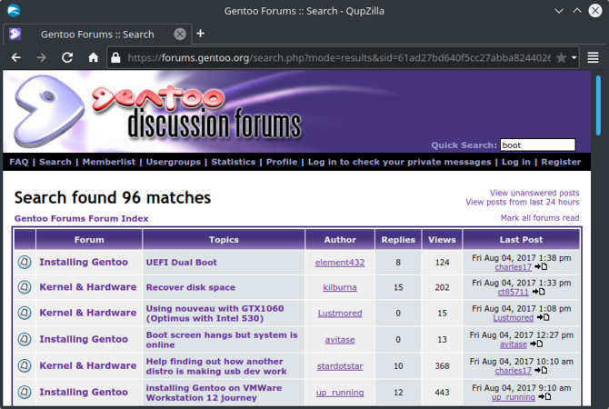 gentoo forum search