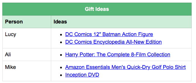 evernote gift ideas