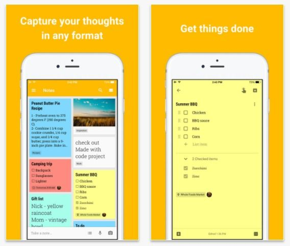 google keep voice commands