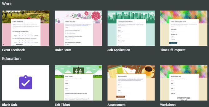 The Best Guide to Google Forms You'll Ever Find GoogleFormsHomePage TemplateGallery