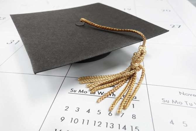 graduation date and cap