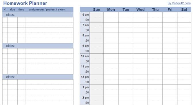 Checklist Schedule And Planner Templates For Students