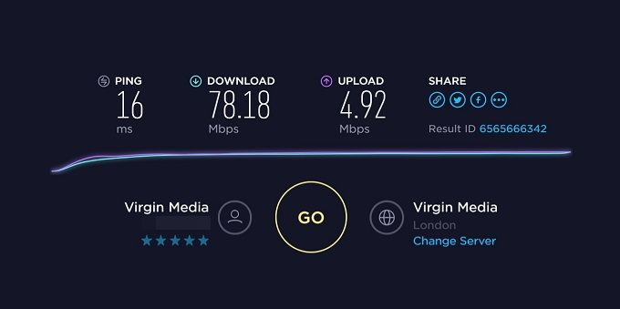 VPN Unlimited: A Reasonably Priced, Solid, and Reliable VPN ISP Speedtest Result 1