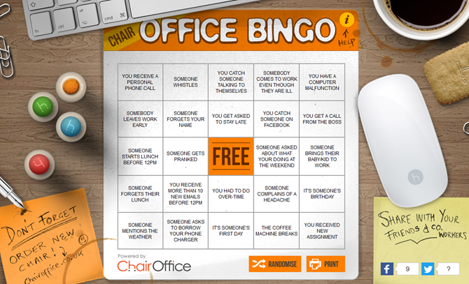 Stupid Yet Entertaining Games to Play in the Office Whilst Your Boss Isn't Looking OfficeBingoGameCard Web