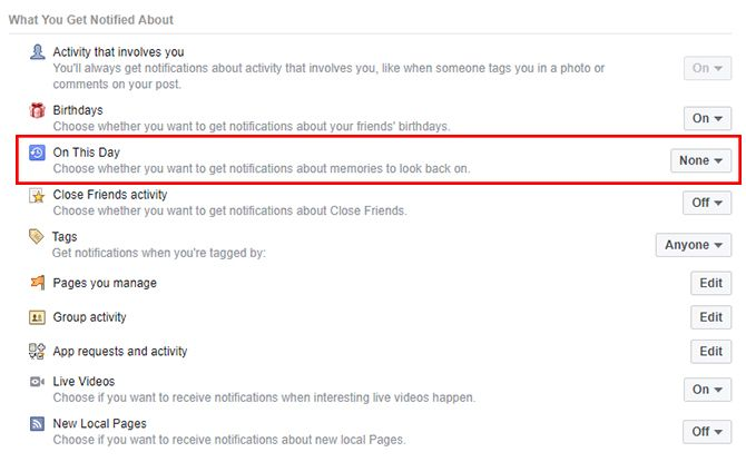 How to Stop Facebook Memories From Appearing in Your Notifications OnThisDay1